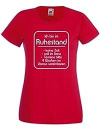GO132 Damen Funshirt Sprüche T-Shirt Wer sündigt hat mehr vom Leben