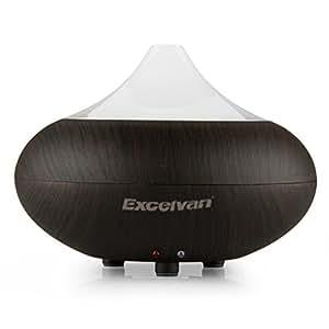 Excelvan® Diffusore di aromi ultrasonico, agli oli essenziali, umidificatore per aromatherapy e purificatore d'aria – Effetto legno scuro – GX-02K