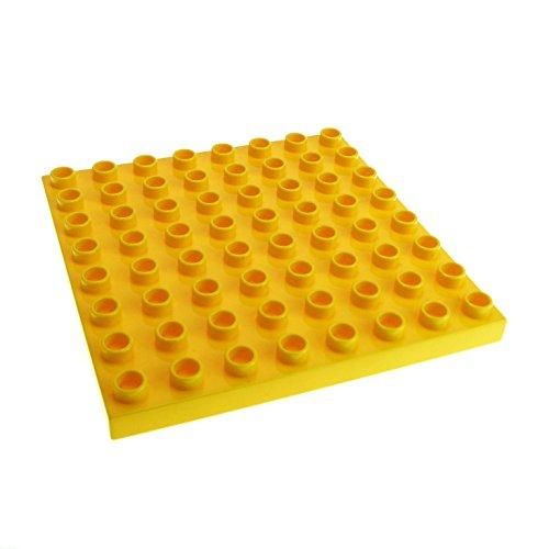 1 x Lego Duplo Bau Basic Platte gelb 8x8 Noppen Zoo Puppenhaus Zug 3772 51262