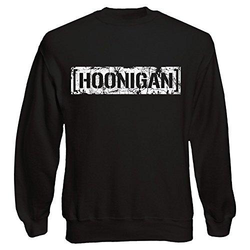 Shirt Happenz Hoonigan Vintage Sweatshirt |Gymkhana |Hoonicorn | Ken Block |Pullover |Pulli, Farbe:Schwarz (Black F324);Größe:XL