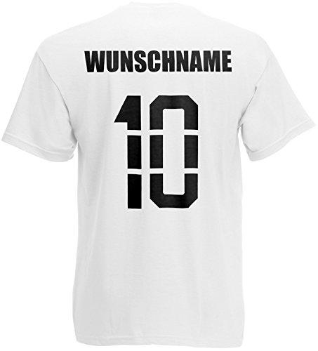 Albanien Shqipëri T-Shirt Trikot Name Nummer Weiß