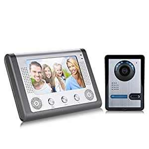 7 zoll lcd t r video monitor sprechanlage gegensprechanlage t rklingel ir kamera komplett set. Black Bedroom Furniture Sets. Home Design Ideas