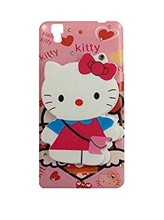Yes2Good Mirror Hello Kitty Mobile Case Cover for Micromax YU Yureka 5510 / Yureka Plus + (Colours May Vary)