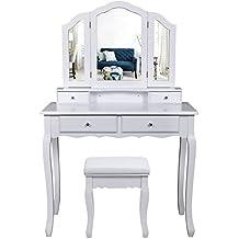tocadores maquillaje. Black Bedroom Furniture Sets. Home Design Ideas