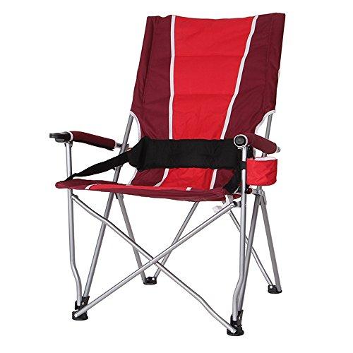 LJHA Klappstuhl Portable Outdoor Hocker Hoch Zurück Freizeit Angeln Stuhl Strand Tische und Stühle 3 Farbe Optional 102 * 55 cm Stühle (Farbe : Blue)