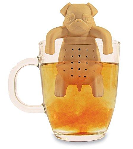 Kingken - Taza de silicona con forma de perro para infusiones de té, para herramientas de cocina