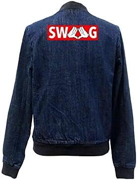Dope Hands Swag Bomber Chaqueta Girls Jeans Certified Freak