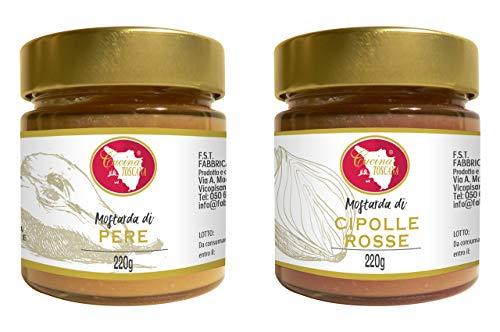 Mostarda di pere e senape + mostarda di cipolle rosse 200g
