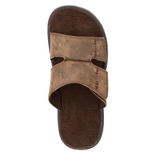 Vionic Jon Mens Slip-on Orthotic Sandal Brown - 11 brown