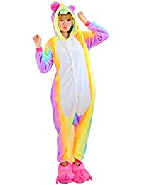Pijama Unicornio Unisexo Adulto cartoon Pyjamas Animal Disfraz Cosplay Traje de Navidad