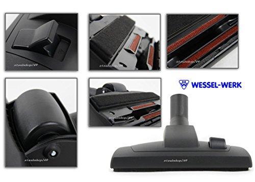 BODENDÜSE-und PARKETTDÜSE 2 in 1 ORIGINAL MARKENWARE WESSEL-WERK 35mm mit FILZSTREIFEN geeignet für KÄRCHER T7/1,T10/1,T12/1,T15/1