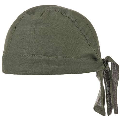 Baumwoll Bandana Corsaire Damen/Herren | Kopftuch aus Baumwolle | Sommer/Winter | Piratentuch Oliv
