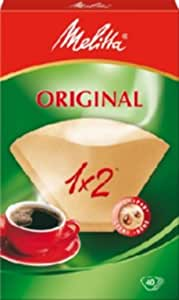Melitta Two Cup Coffee Filter Papers brown Pack of 40