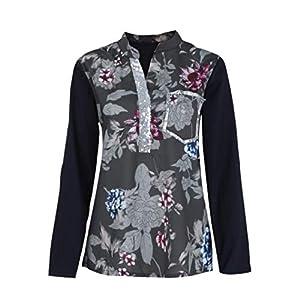 MOIKA Tshirt Damen, Damen Langarm Lose Bluse Hemd Shirt Oversize Sweatshirt Oberteil Tops
