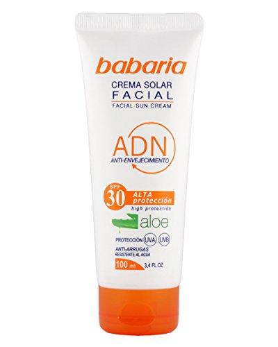 Babaria Crema Solar Facial Aloe Vera SPF30 Tubo – 100 ml
