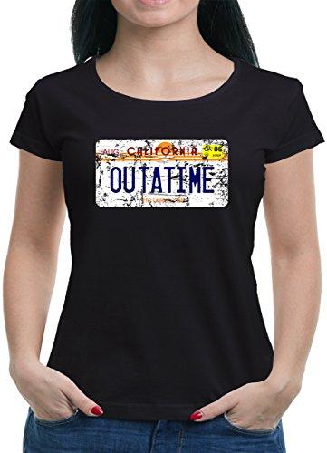 Touchlines Merchandise TLM Outatime License Plate T-Shirt Damen Herren M - Doc-halloween-kostüm