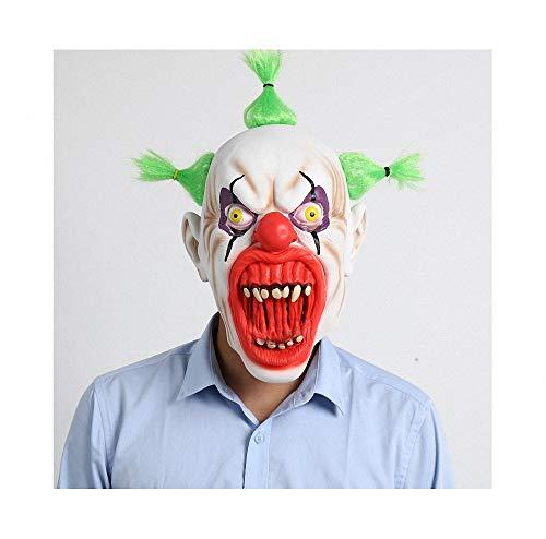 Miarui Halloween Blut Mund Clown Maske Grimassenmaske