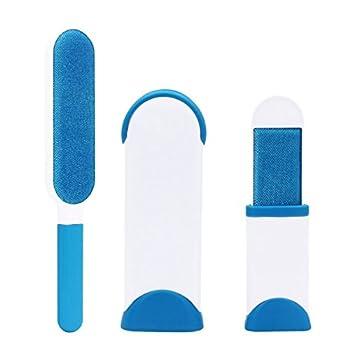 Fur wizard brosse, Brosses pour animal, domestique fourrure et Lint Remover Cleaner - de Compagnie Brosse de Taille Voyage (Bleu)