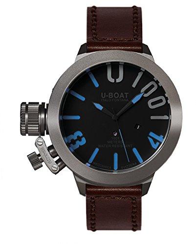U-Boat Classico 551001blu Reloj Automático para Hombre con Negro esfera analógica pantalla y correa de piel color marrón 2280.0