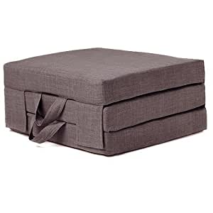Single Slate Grey Portable Foam Folding Mattress With