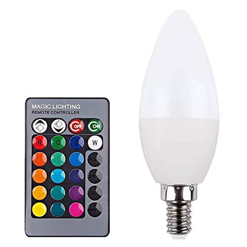 Xuba LED 85-265 V 3 W RGB Glühbirne Kerze Lampe mit Fernbedienung für KTV Party Bühne Dekor