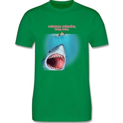 Wassersport - Schwimm schneller, bam, bam. - Herren Premium T-Shirt Grün