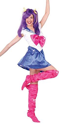 sexy Manga Marine Mädchen - Kostüm für Damen Karneval Fasching Party Anime Gr. M - L, ()