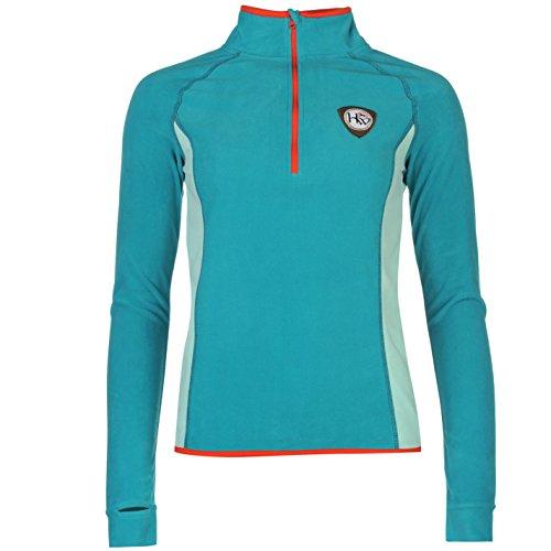 Horseware Femme Fiona 1/2 Zip Top Haut Sport Manche Longue Sweat Equitation Bleu