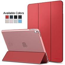Cubierta (funda) protectora ultra delgada y liviana con protector trasero translúcido esmerilado iPad Air 2 A1566 A1567 Roja. MMOBIEL