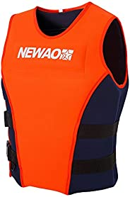 Decdeal Adults Life Jacket Neoprene Safety Life Vest for Water Ski Wakeboard Swimming