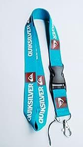 Quiksilver Key Chain Lanyard Neck Strap Holder Keychain Breakaway (Mint)-with Blue Bottle Opener Keychain by Shenton Tech