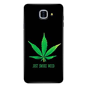 CrazyInk Premium 3D Back Cover for Samsung J7 Max - Just Smoke Weed