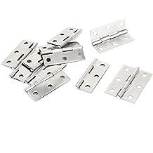 10 piezas tornillos de acero inoxidable bisagras para puerta armario 4,57 cm