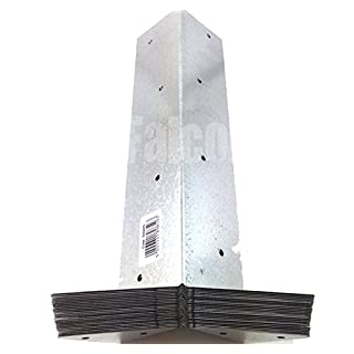 ARRIS GALVANISED RAIL BRACKETS - 300mm - FENCE - FENCING - POST - SUPPORT (12)