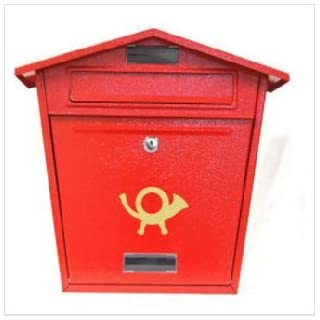Aboria Steel Plate Post Box Red