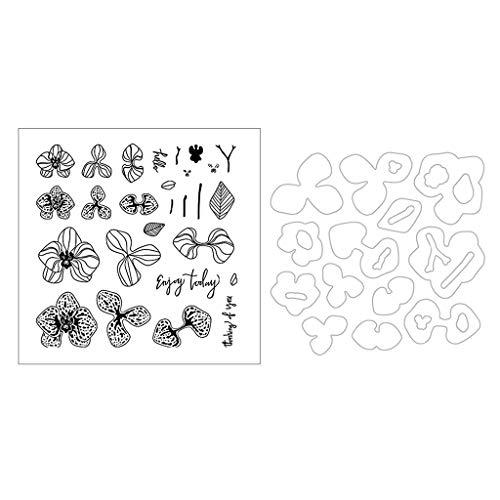 Mr.Better Blume Stanzschablonen und Stempel, Scrapbooking Stanzmaschine Schablonen Stempel Stanzformen Prägeschablonen, für Sizzix Big Shot und andere Prägemaschine