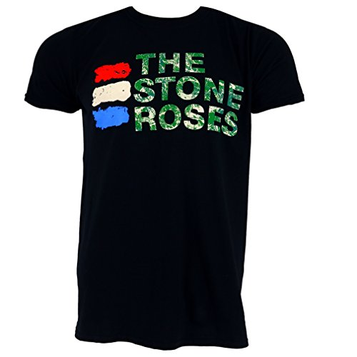 The Stone Roses Official Three Colours Black T-shirt, M to XXL