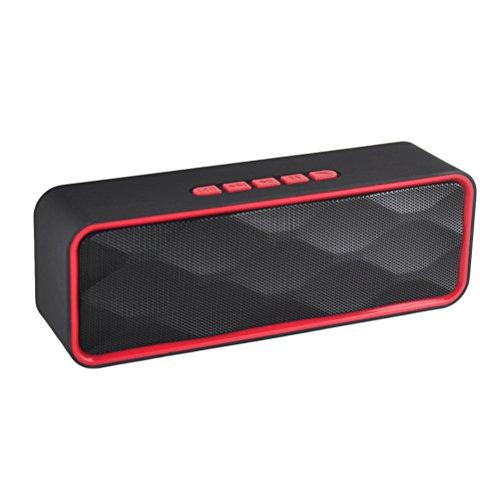 sicneka Tragbare Wireless Bluetooth Lautsprecher Mit Enhanced Bass tragbar und wiederaufladbare eingebaute Mikrofon für Tablet/Laptops (rot) Auto-docking-station