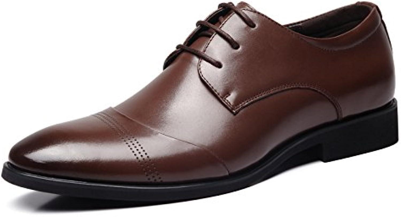 zmlsc Herren Business Leder Schuhe Casual Schuhe weisslichen Niedrigen Blauen Kopf Flach mit Hohen Tipp Grid