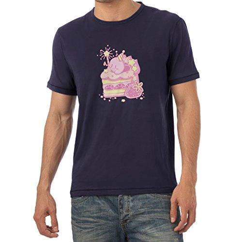 NERDO - Cake Time - Herren T-Shirt Navy