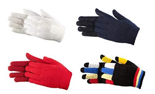 PFIFF 011278 Kinder Noppen Handschuhe, Reithandschuhe, Einheitsgrösse, Weiß
