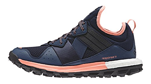 adidas Damen Response TR Women Laufschuhe, Mehrfarbig (Mineralblau/Superpurple/Sun Glow Orange/Weiß), 39 1/3 EU -