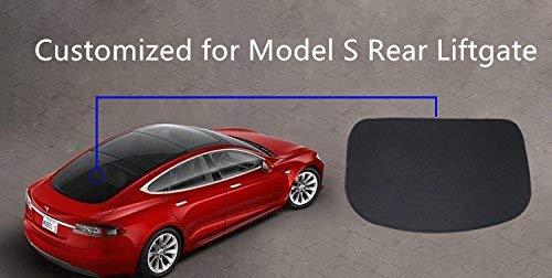 Lmzx Faltbarer Sonnenschutz für Auto Heckscheibe Sonnenschutz für Modell S