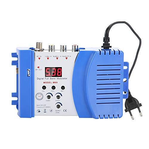 Eboxer Modulatore RF AV Modulatore digitale da AV a RF Supporto VHF/UHF per ricevitori satellitari, videocamere, console per videogiochi, videocamere CCD, videoregistratore, DVD e altro(EU)