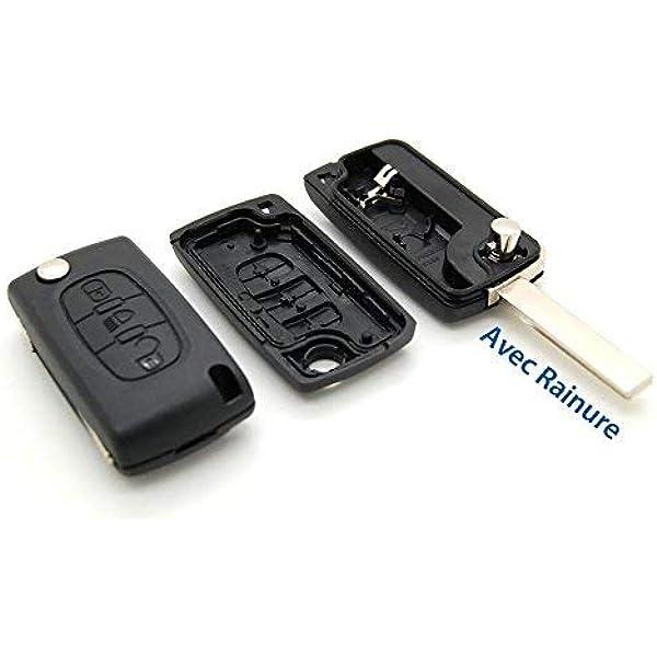 Schutzhülle Mit Fernbedienung Scheinwerfer Funkschlüsselgehäuse Für Citroen C4 Picasso Mit Rille Auto