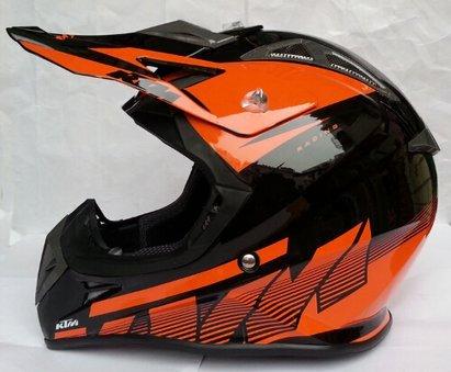 Casco KTM Moto Motocross Off Road MX Casque Helmet Motorrad Helm MRX Bike M arancione