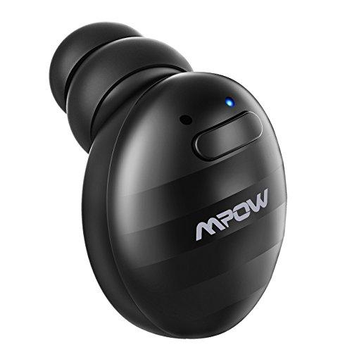 Mpow Mini Auricolare Bluetooth, Auricolare Invisibile Wireless con Vivavoce Isolamento da Rumore, Bluetooth 4.1 con USB magnetici per Auto e Ufficio iPhone Samsung Huawei Sony HTC, Ondulazione