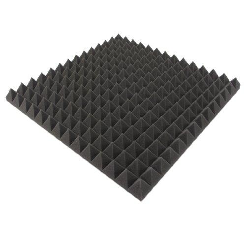 Akustikpur - ca. 49 cm x 49 cm x 5 cm - Akustikschaumstoff,Pyramiden Akustik Schaumstoff,Akustik Dämmung