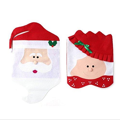tfxwerws klassischen Herr Santa Claus Esszimmer Stuhl Bezug Weihnachten Weihnachten Dekoration (Klassische Stuhlhussen)
