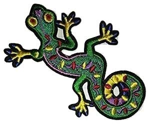 Salamander Lagarto Gekko Retro Hippie bordado iron on patch